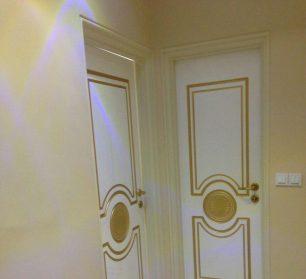 نمونه درب های داخلی HDF و MDF نصب شده