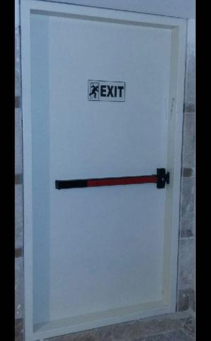 درب ضد حریق با تاییده آتش نشانی با دستگیره تاچ