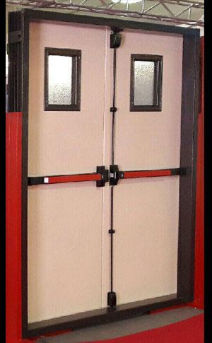 درب ضد حریق دو لنگه با تاییده آتش نشانی